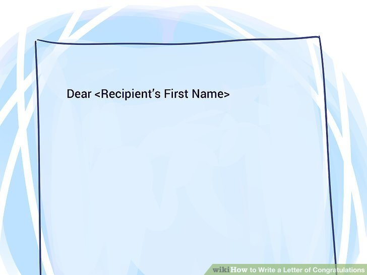 3 Ways to Write a Letter of Congratulations - wikiHow - congratulation letter