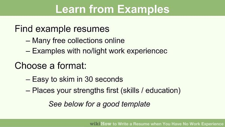 How to Write a Resume when You Have No Work Experience 10 Steps - Resume With No Work Experience Resume