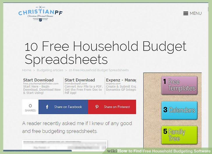 How to Find Free Household Budgeting Software 12 Steps