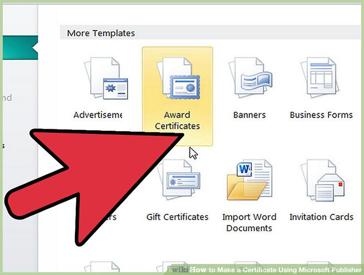 How to Make a Certificate Using Microsoft Publisher 4 Steps - microsoft templates certificates
