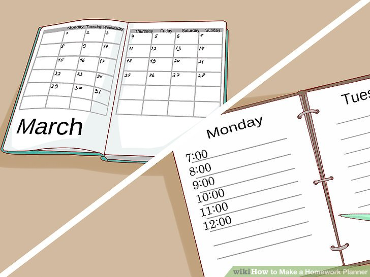 3 Ways to Make a Homework Planner - wikiHow