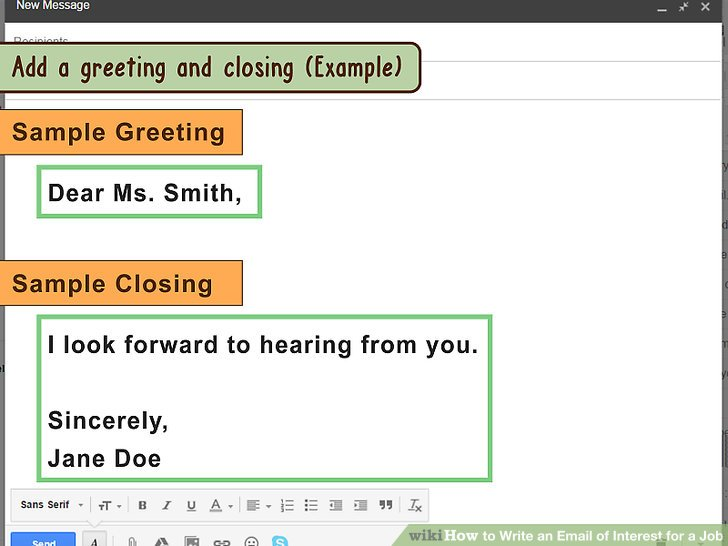 3 Ways to Write an Email of Interest for a Job - wikiHow - email sample for job