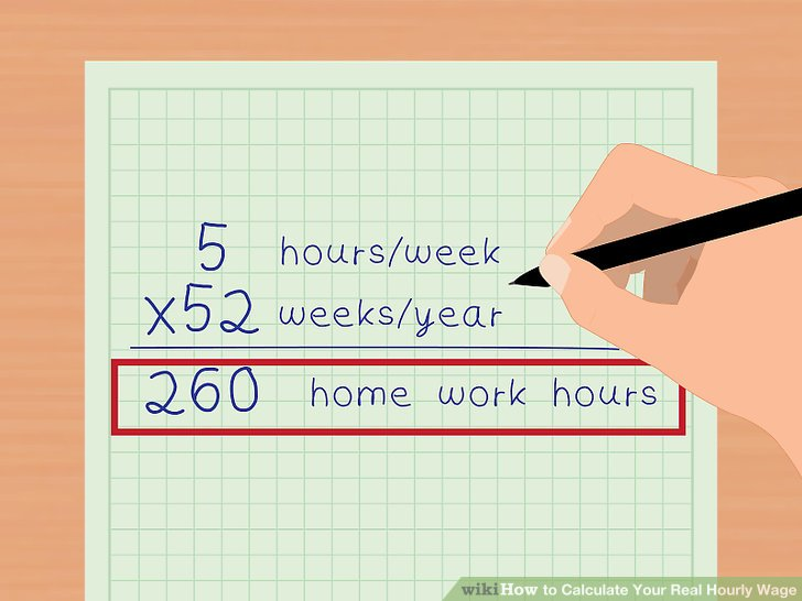 3 Ways to Calculate Your Real Hourly Wage - wikiHow - ga payroll calculator