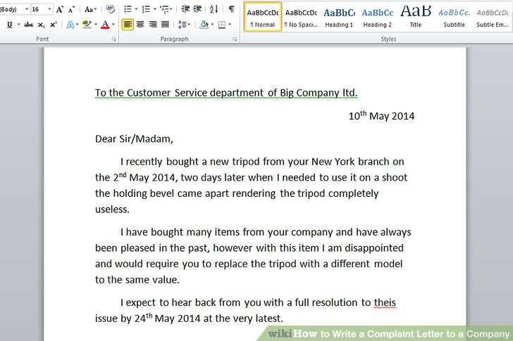 when writing a letter of complaint how to write a complaint letter - complaint letter samples