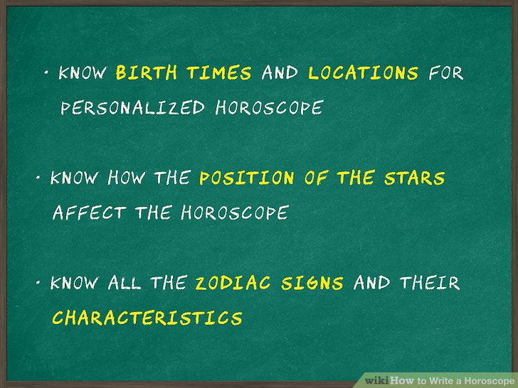 How to Write a Horoscope (with Sample Horoscopes) - wikiHow