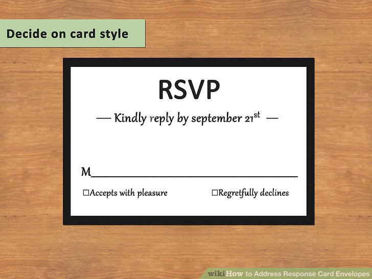 response cards and envelopes hgvi