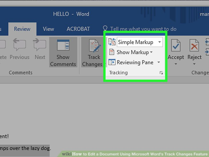 How to Edit a Document Using Microsoft Word\u0027s Track Changes Feature - microsoft word