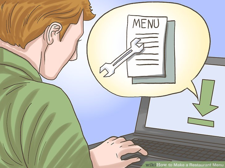 How to Make a Restaurant Menu (with Pictures) - wikiHow - how to make a menu for a restaurant