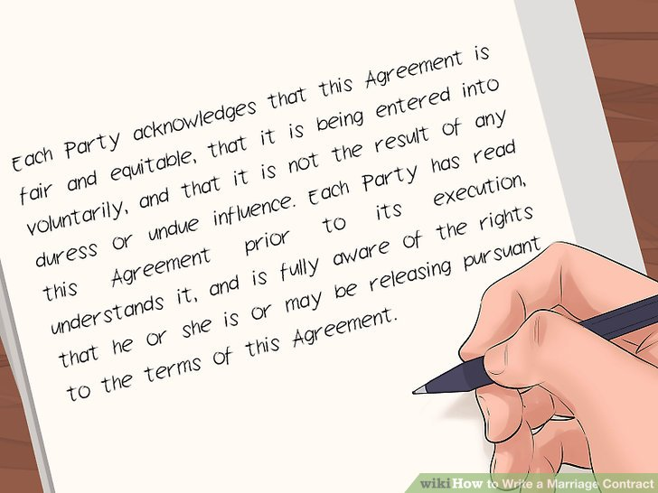 How to Write a Marriage Contract (with Pictures) - wikiHow - writing contract agreements
