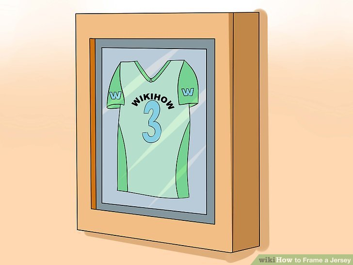 How to Frame a Jersey 8 Steps (with Pictures) - wikiHow - green photo frame