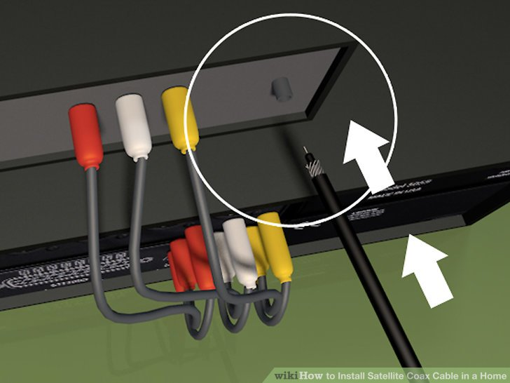 How to Install Satellite Coax Cable in a Home 14 Steps - wikiHow