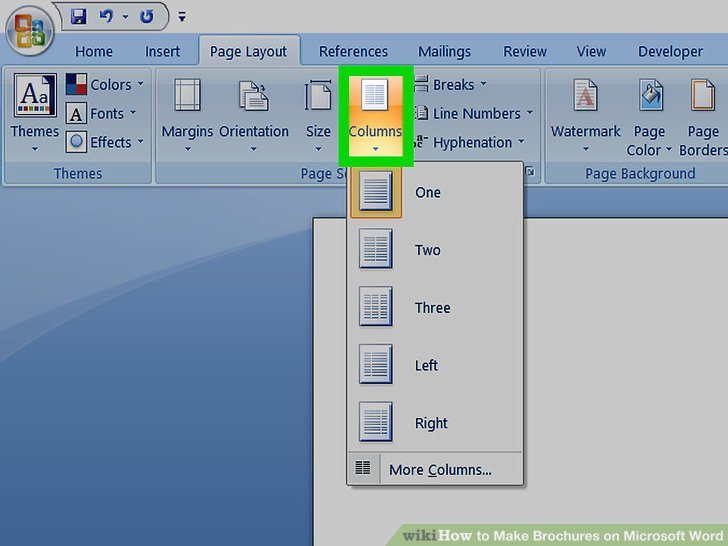 Easily Make Brochures on Microsoft Word (with Examples) - wikiHow - brochure format word