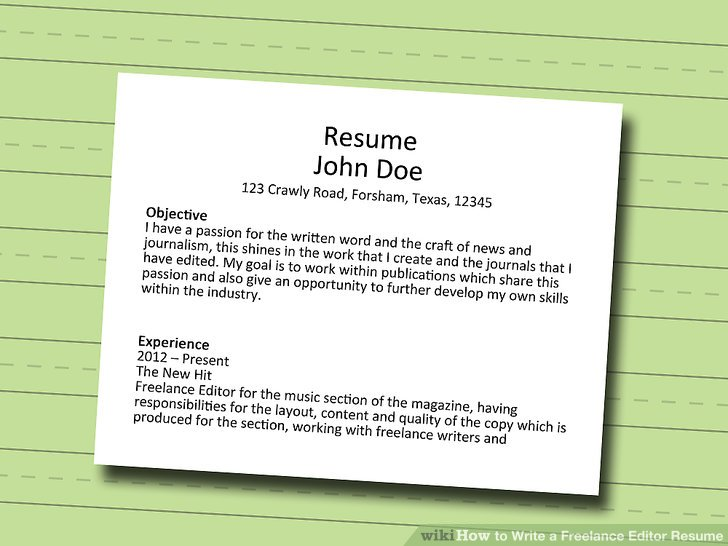 How to Write a Freelance Editor Resume 10 Steps (with Pictures)
