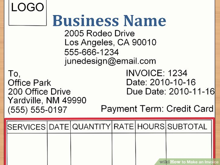 How to Make an Invoice (with Sample Invoices) - wikiHow - how to fill out invoice