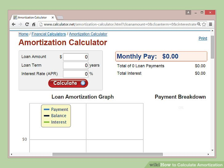 How to Calculate Amortization 9 Steps (with Pictures) - wikiHow - loan amotization