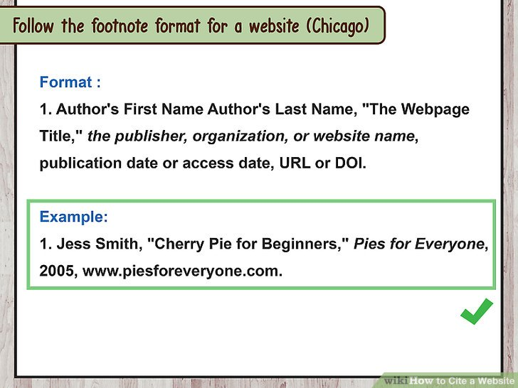 How to Cite a Website (with Sample Citations) - wikiHow - chicago style footnotes example