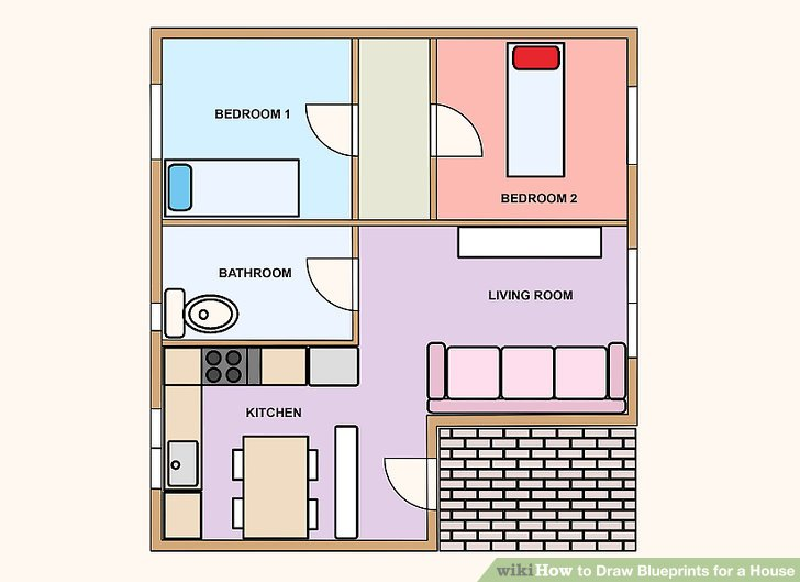 How to Draw Blueprints for a House 9 Steps (with Pictures) - copy bathroom blueprint maker