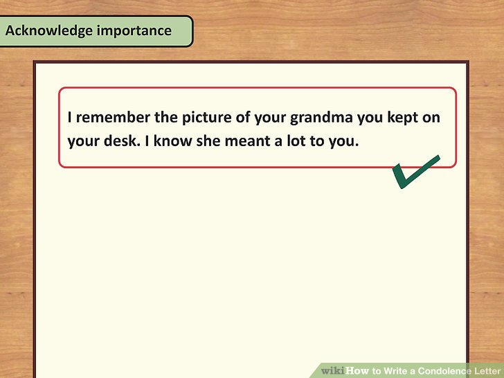 How to Write a Condolence Letter 14 Steps (with Pictures) - condolence letter