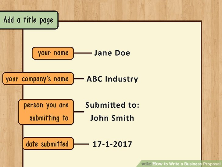 How to Write a Business Proposal (with Pictures) - wikiHow - proposal for business
