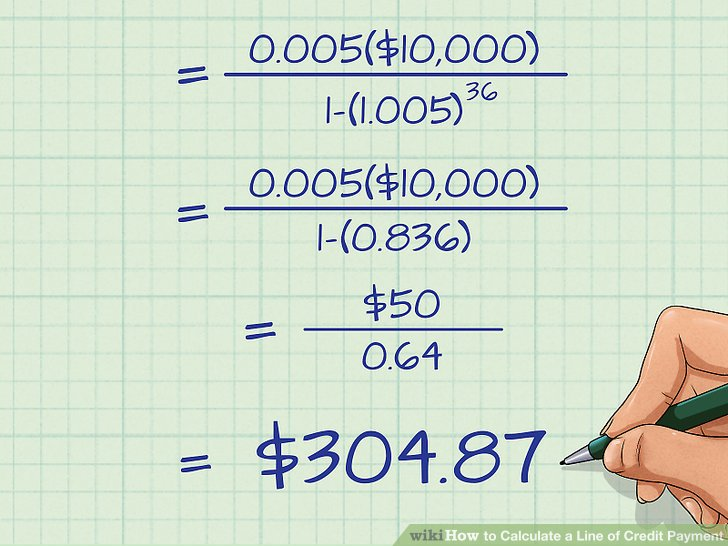 3 Ways to Calculate a Line of Credit Payment - wikiHow