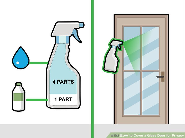 3 Ways to Cover a Glass Door for Privacy - wikiHow