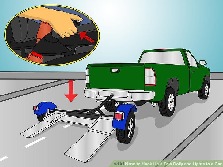 How to Hook Up a Tow Dolly and Lights to a Car (with Pictures)