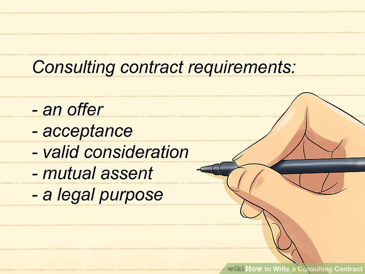 How to Write a Consulting Contract 15 Steps (with Pictures)