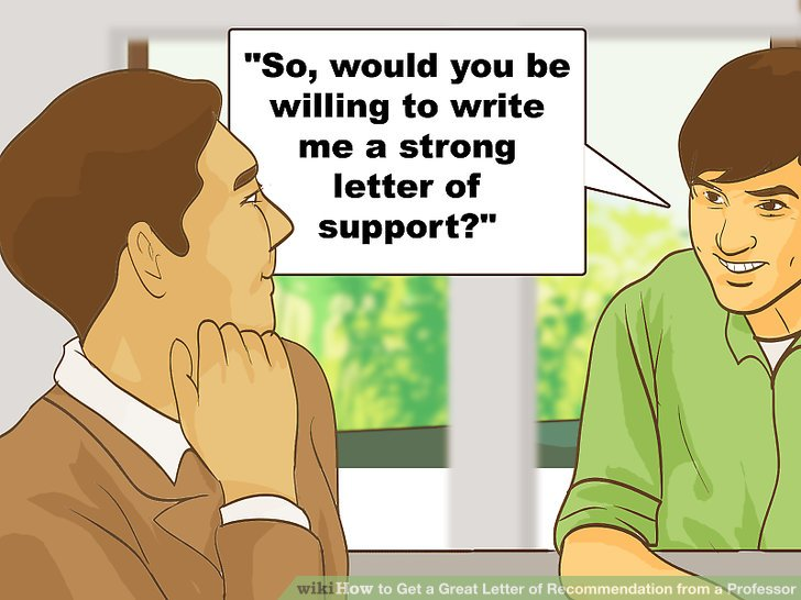 how to ask a professor for a letter of recommendation in person