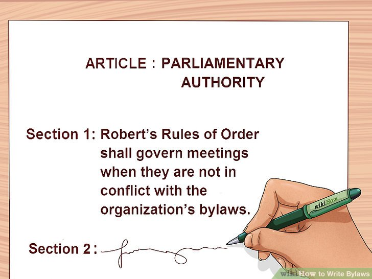 How to Write Bylaws (with Pictures) - wikiHow - Ngo Bylaws Template