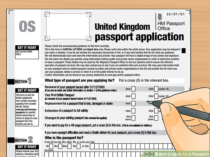 How to Apply for a Passport (with Pictures) - wikiHow - passport renewal application form