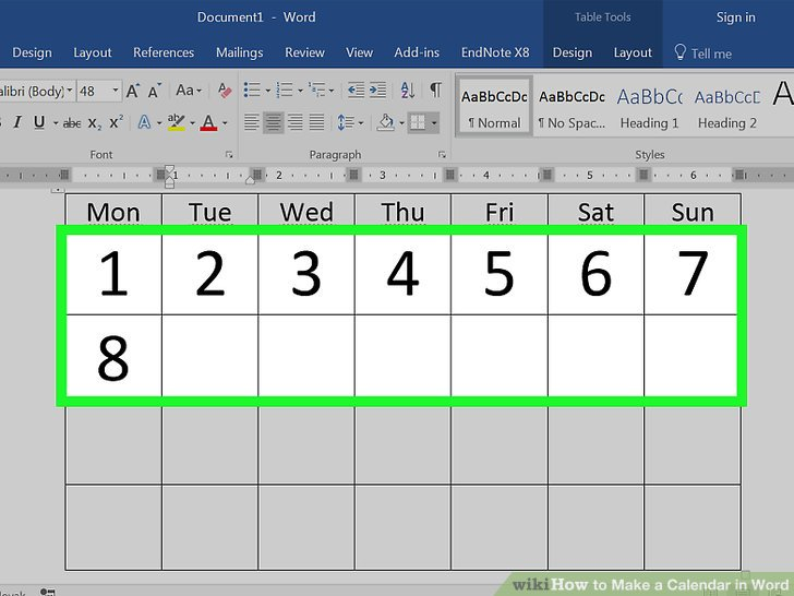 how to make a calendar in word - Juvecenitdelacabrera