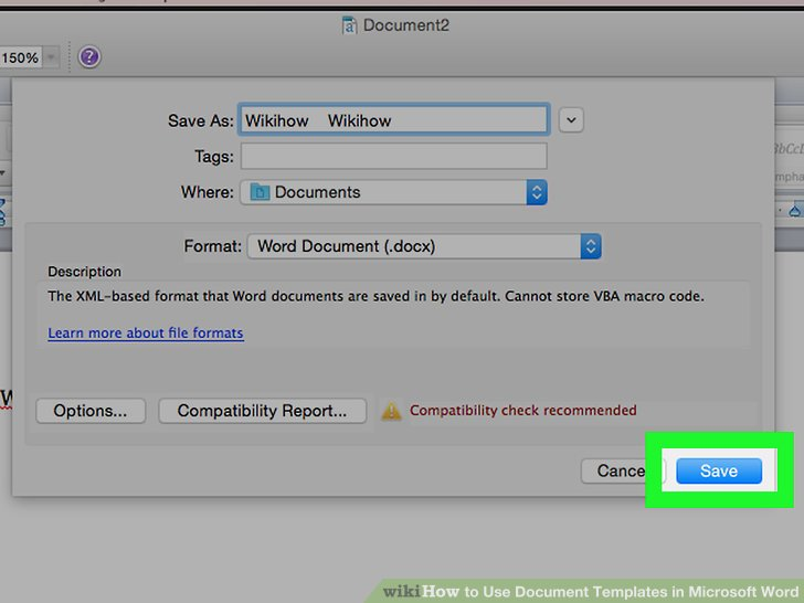 6 Ways to Use Document Templates in Microsoft Word - wikiHow - template word document
