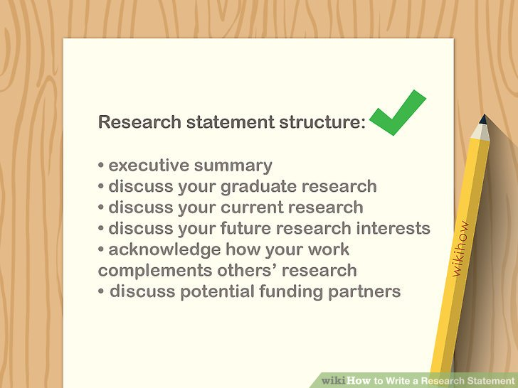 3 Easy Ways to Write a Research Statement - wikiHow