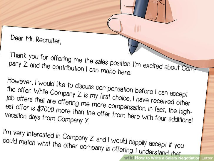How to Write a Salary Negotiation Letter 15 Steps (with Pictures)