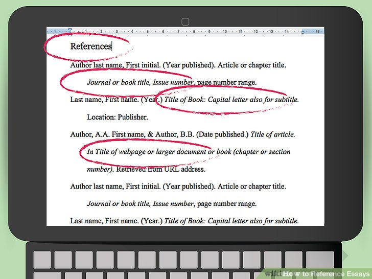 3 Ways To Reference Essays Wikihow