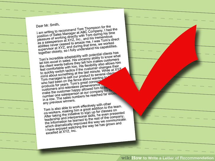 How to Write a Letter of Recommendation 14 Steps (with Pictures)