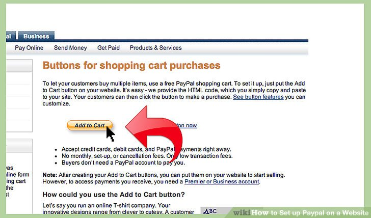 How to Set up Paypal on a Website 10 Steps (with Pictures) - set up web site