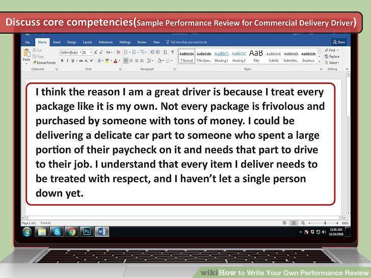 How to Write Your Own Performance Review (with Sample Reviews) - performance review example