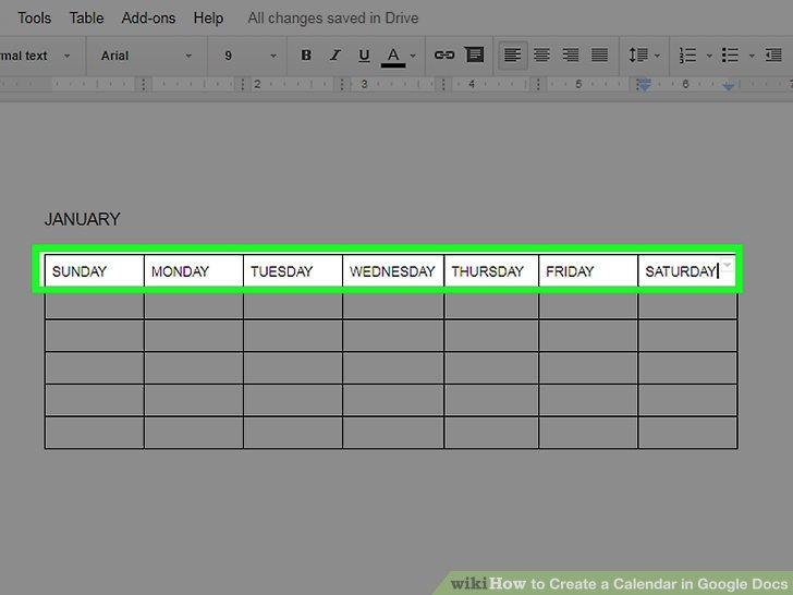 The 2 Best Ways to Create a Calendar in Google Docs - wikiHow