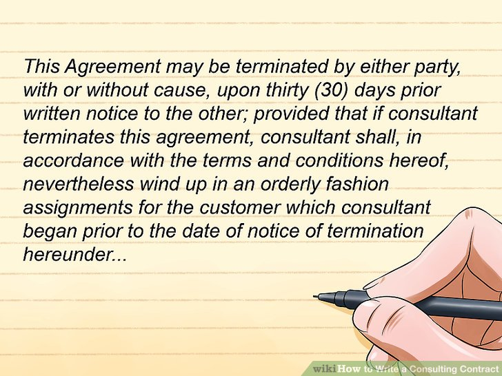 How to Write a Consulting Contract 15 Steps (with Pictures) - consulting agreement
