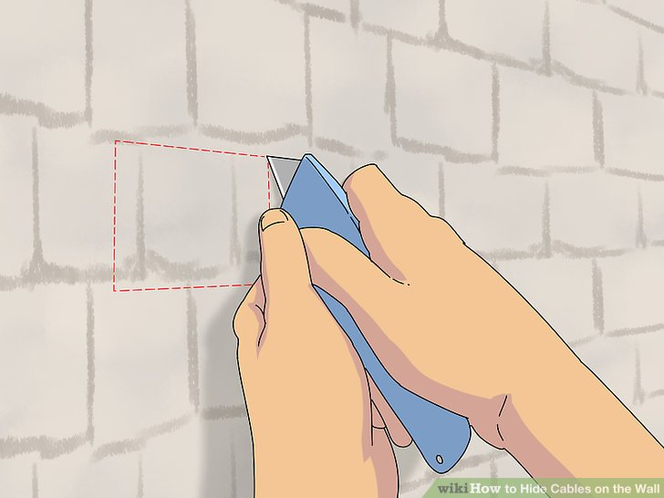 3 Ways to Hide Cables on the Wall - wikiHow