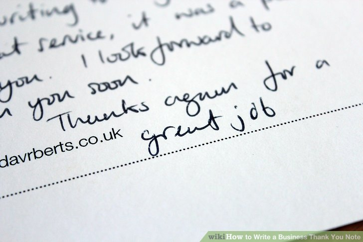 How to Write a Business Thank You Note (with Sample Notes) - business thank you note