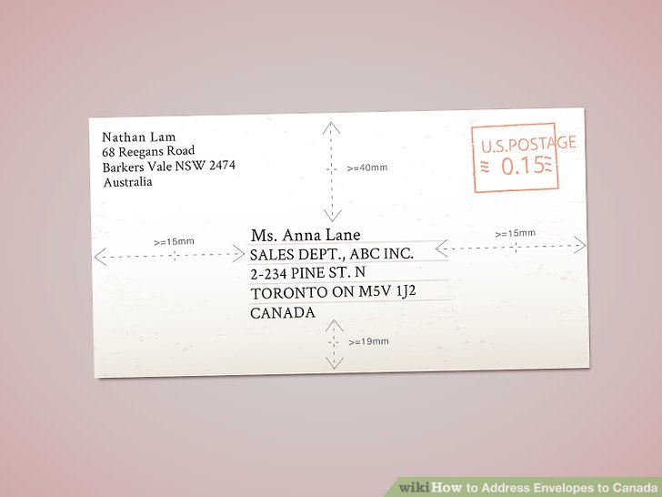 Easy Ways to Address Envelopes to Canada - wikiHow