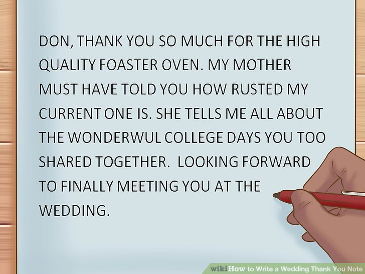 How to Write a Wedding Thank You Note 15 Steps (with Pictures)