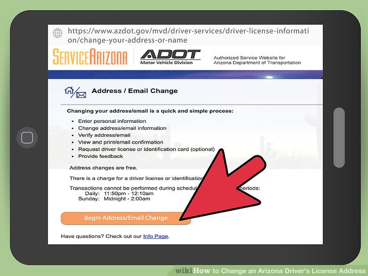 3 Ways to Change an Arizona Driver\u0027s License Address - wikiHow - free change of address