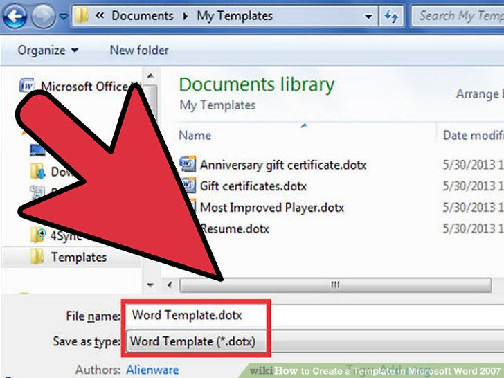 How to Create a Template in Microsoft Word 2007 7 Steps
