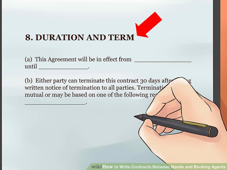 booking agent contract - Apmayssconstruction