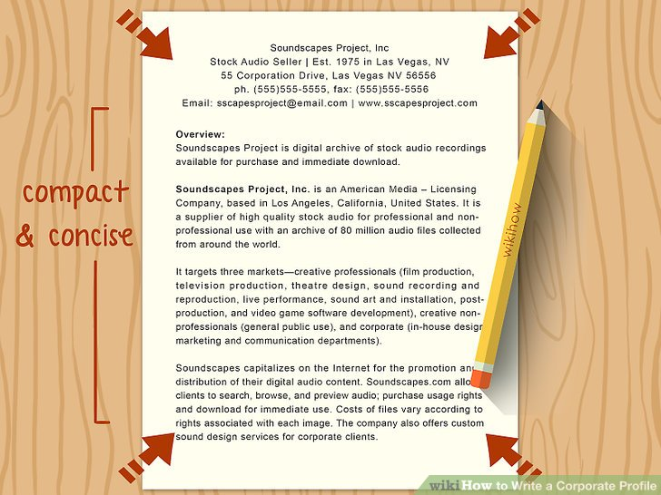 How to Write a Corporate Profile (with Pictures) - wikiHow - how to write a profile