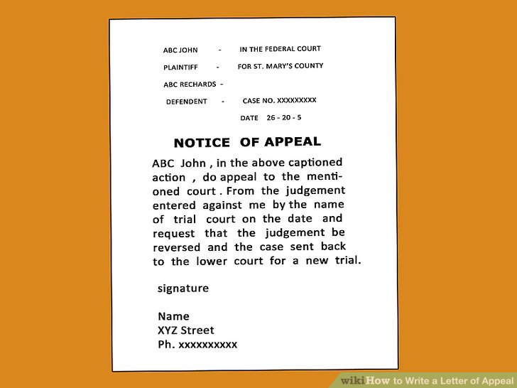 How to Write a Letter of Appeal 12 Steps (with Pictures)