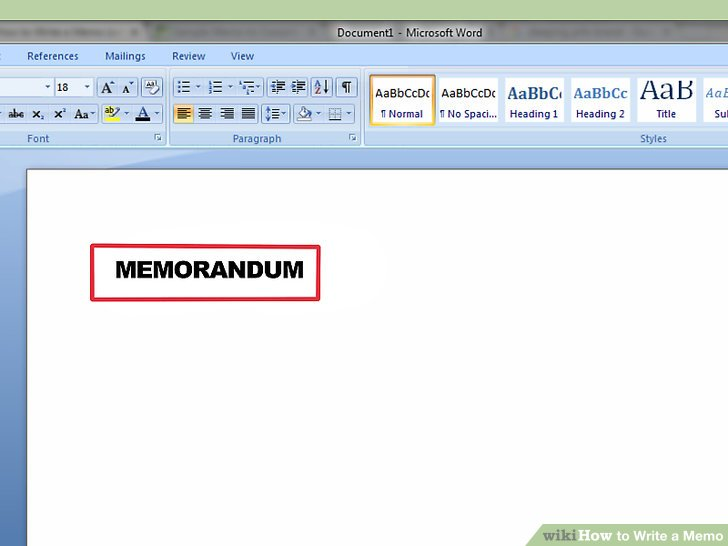 How to Write a Memo (with Pictures) - wikiHow - office memos examples
